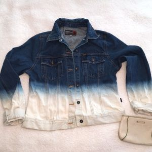 Ombré denim jacket read description size m